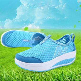 Giày lưới thể thao nữ màu xanh 37 -AL