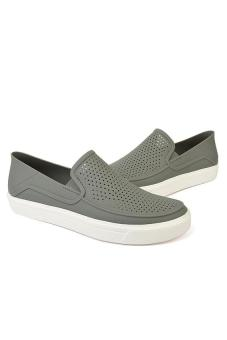 Giày lười nam Crocs CitiLane Röka Slip-on M Smoke/White 202363-06X (Xám)