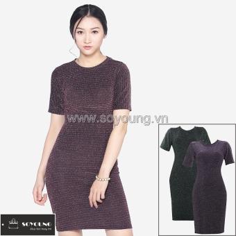 Bộ 3 Váy Midi Body Nhũ Dáng Dài Cộc Tay SoYoung DRESS 0068C A B D