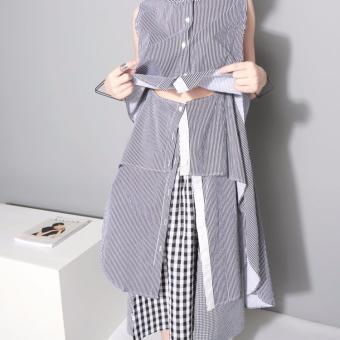 Đầm Kẻ Sọc Thiết Kế Layers Đa Chiều