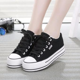 Giày thể thao nữ đế tăng chiều cao 5cm màu đen TT109A