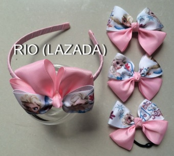 Bộ phụ kiện tóc handmade dành cho bé gái - rio 02.