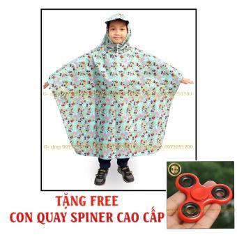 Áo mưa trẻ em PVC cao cấp : Siêu nhẹ + Tặng FREE con quay cao cấp