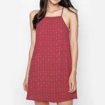 Đầm hai dây dáng suông MINT Basic (Đỏ)