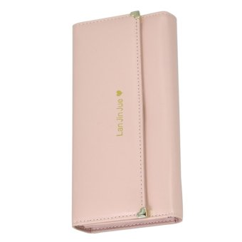 Fashion Women Love Folding Wallet Purse Phone Case Handbag Light pink - Intl - intl