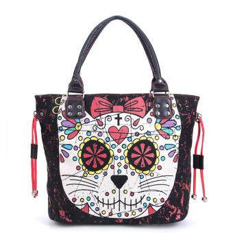 Animal Printing Shoulder Bags Cat Shape handbag - intl