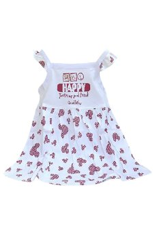 Bộ đồ mùa hè cho bé gái Family Shop TEH56 (Trắng)