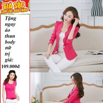 Áo Vest Nữ Gợn Sóng Thanh Lịch (Hồng) + Tặng 1 áo thun body nữ