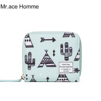 Ví Mini Mr.ace Homme M16011Q01 / Xanh bạc hà