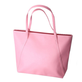 Simple Winter Larger Capacity Leather Women Bag Messenger Pink - Intl