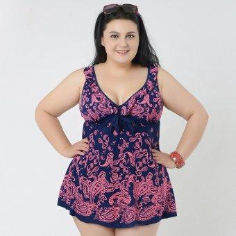 BolehDeals Plus Size Women Skirt Swimsuit Monokini Padded Swimwear Beach Wear 8XL Red - intl