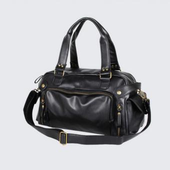 Túi xách da cỡ lớn tiện ích thời trang màu đen DT1348