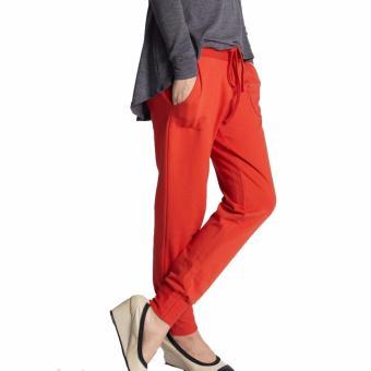 MEV Quần bầu thun dài Mothers En Vogue - Slouchy Drawstring Terry - M - Red