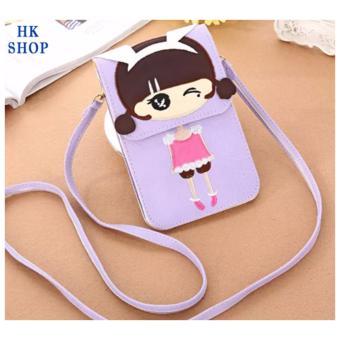Túi điện thoại cô gái xinh xắn HK SHOP G2 (Tím)
