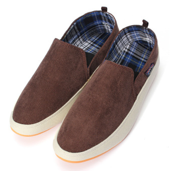 Britsh Men's Casual Canvas Sneakers Slip On Loafer Moccasin Zapato Breathe Shoes - Intl