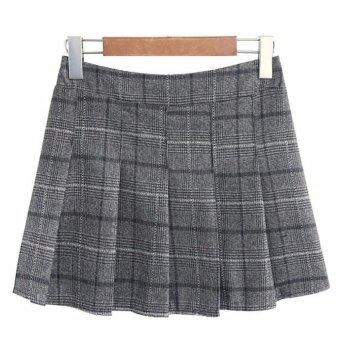 Mua Chân váy ngắn dáng xoè xếp li xám LTTA83 giá tốt nhất