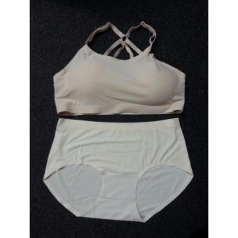 Bộ quần + áo lót nữ cao cấp- Màu Da (free size)