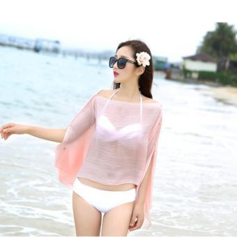Áo choàng đi biển L&A Fashion (Hồng phai)