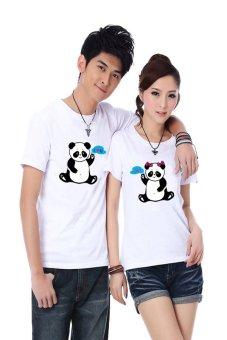 Áo thun cặp Kỳ Khang KK25 (Trắng panda)