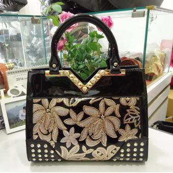 Túi nữ da cao cấp DaH2 TN6068 (màu đen)