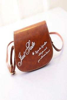 HKS Retro Leather Mini Small Adjustable Shoulder Bag Handbag Letter packet Light Brown - intl