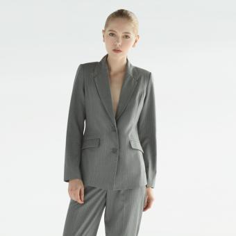 Áo Blazer Candeblanc Pinstripe Grey-F16H7027