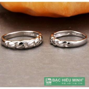 Nhẫn đôi Bạc Hiểu Minh nc337 bền chặt