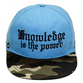 Nón Snapback The Power vành camo Juliecaps (Xanh)