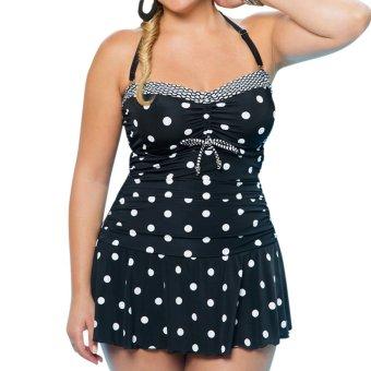 Women Tankini Bikini Set Push up Padded Swimsuit Bathing Suit L Black - intl