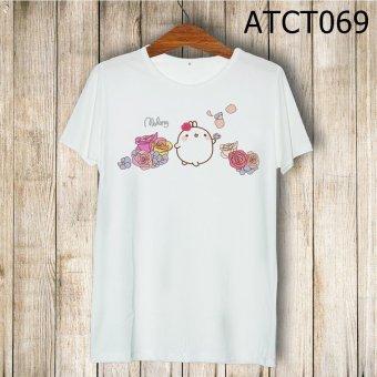Áo thun molang và hoa - MITADI - ATCT069 (Trắng)