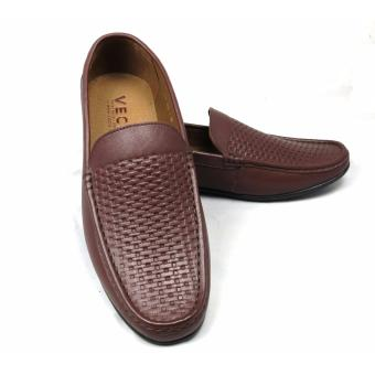 Giày lười da nam cao cấp GL-03 (Nâu)