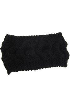 Lalang Knitting Needle Hairband Black