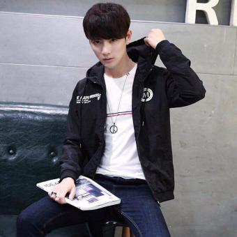 Áo hoodie nam - áo dù nam-áo khoác dù nam- áo khoác dù nam giá rẻ- M dù nón (đen)
