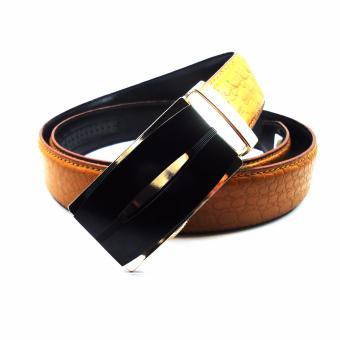 Thắt lưng nam da bò khóa gạt DaH2 D0018VKG30 (Vàng bò)