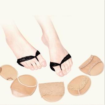 Bộ 4 đệm lót giày bằng vải phối ren xỏ ngón Làm Đẹp (đen)