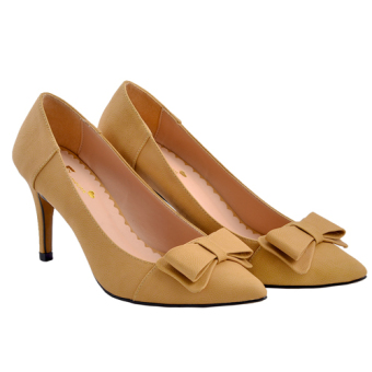 Giày thời trang Aly cao gót 7 phân (Vàng)