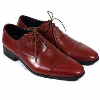 Giày tây cột dây Tathanium Footwear TFBDU0040 (Đỏ đô)