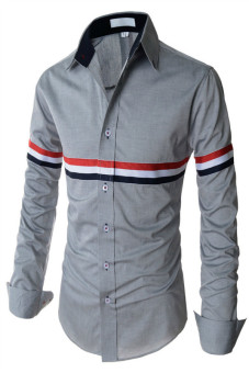 Reverieuomo CS42 Single-Breasted Shirt Grey - Intl