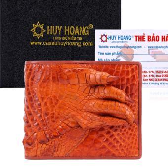 HL2234 - Bóp nam Huy Hoàng da cá sấu gù chân màu vàng