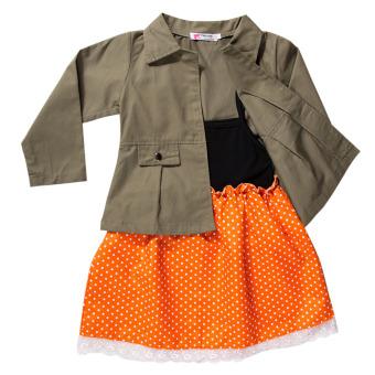 NEW Girls Clothes Coat+Dress 2pcs Suit - intl