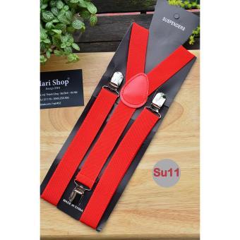 Dây Đai Quần Nam Simple Suspender Đỏ Cờ