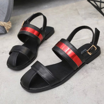 Women's Sandals With Color Matching And Tip-Binding Design(Black) - intl