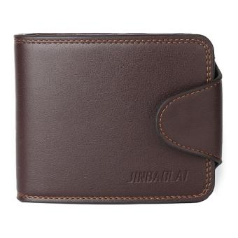 Men's Cowhide Bifold Wallet(Brown) - intl