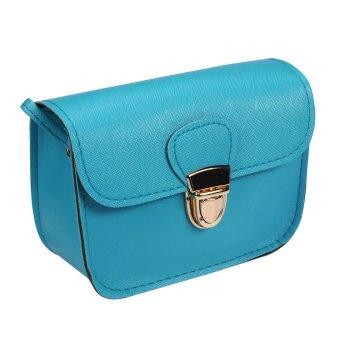 Mua Retro Girl Leather Mini Small Adjustable Shoulder Bag Handbag Blue giá tốt nhất