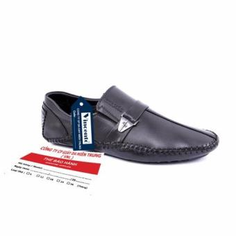 Giày lười nam Da Thật chính hãng Giày Da Miền Trung VCTHLZD7D-1 (Đen )