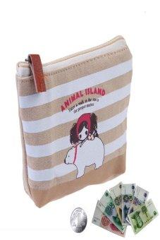 HKS Women Children Key Card Cash Animal Case Kids Coin Bag Purse Pouch Stripe - intl