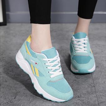 Giày Sneaker Nữ Vải Đan Thoáng Khí Phong Cách Hàn Quốc - Msp 2992 (XANH)