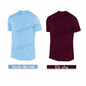 Bộ 2 áo thun LAKA A1217 (Xanh Da Trời + Đô Nho)