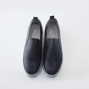 Giày Slip-on MUST Korea phong cách thể thao nữ (Đen)