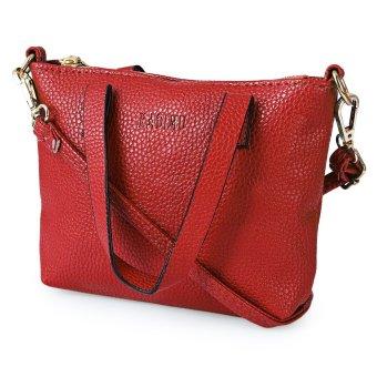 Women Business PU Letter Handbag Shoulder Bag (Red) - intl